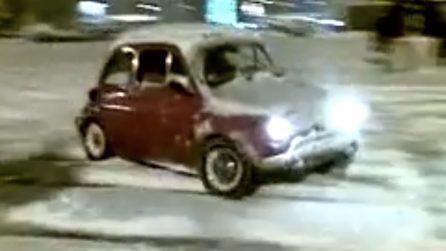 Derapate sulla neve con la mitica Fiat 500