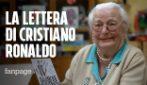"""""""Mi ha scritto Cristiano Ronaldo"""": la storia di nonna Lucia, tifosa di 97 anni"""