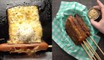 Wrap the hot dogs in the cheddar: they will be so delicious and crispy