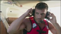 L'Isola 2019: Il lancio dall'elicottero di Riccardo Fogli, Grecia Colmenares e Marco Maddaloni