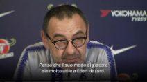 """Sarri: """"Higuain perfetto per giocare insieme ad Hazard"""""""