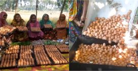 They cook 900 eggs all at once: here is how lunch is made in a Bangladeshi village