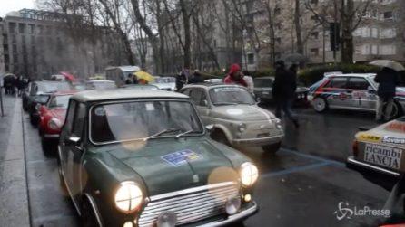 Rallye Monte-Carlo Historique, a Milano le bellissime auto d'epoca