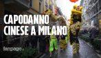 Capodanno cinese a Milano: tradizionale sfilata in maschera per festeggiare l'anno del maiale
