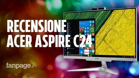 Recensione Acer Aspire C24, un desktop all in one compatto e con un buon rapporto qualità prezzo
