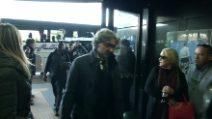 Icardi non convocato: le immagini della partenza dell'Inter per Vienna