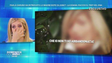 Domenica Live - La presunta mamma di Paola Caruso