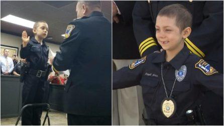 Malata terminale di cancro, a 6 anni realizza il suo grande sogno: Abigail giura da poliziotto