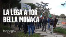 Roma, la Lega a Tor Bella Monaca contro la droga ma il quartiere non c'è