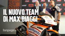 """Max Biaggi presenta il nuovo team per il mondiale di Moto 3: """"Faremo bene già dalla prima gara"""""""