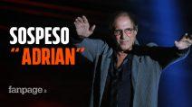 """Adrian, la serie evento di Adriano Celentano è stata sospesa: """"Per esigenze di salute"""""""