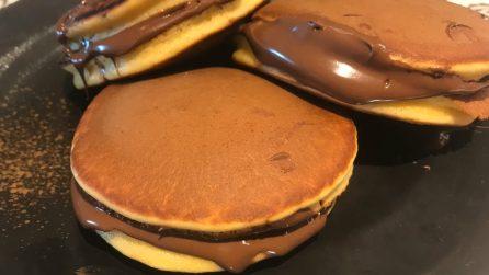 Dorayaki, i pancakes soffici e golosi con crema al cioccolato