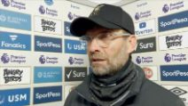 """Jurgen Klopp: """"Il vento ci ha impedito di giocare il nostro calcio"""""""