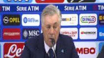 """Ancelotti: """"Risultato immeritato. Espulsione di Meret controversa"""""""