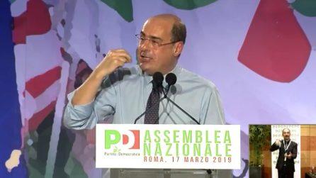 """Zingaretti eletto segretario PD: """"Rimettere al centro la persona umana"""""""
