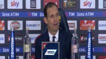 """Juve, Allegri: """"Dispiace perdere l'imbattibilità, complimenti al Genoa"""""""