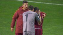 Roma fuori dalla Champions: Florenzi in lacrime, Casillas lo rincuora