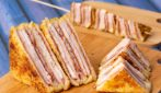 Hot Ham and Cheese Sandwich with strawberry Jam: the amazing way to use jam!