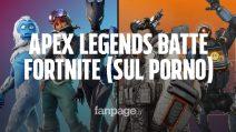 """Apex Legends batte Fortnite sul porno (lo dice PornHub): la chiave più cercata è """"Apex Legends porn"""""""