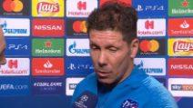 """Champions, Simeone: """"Juve fortissima in casa, sarà dura. Godin gioca"""""""