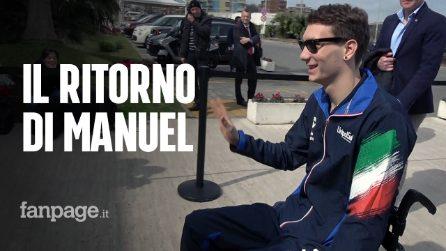 """Manuel Bortuzzo: """"Non ho mai maledetto quella notte, penso positivo e vado avanti"""""""