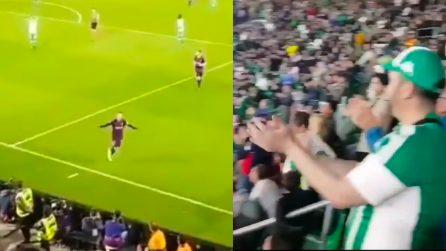 Messi show segna una tripletta, la reazione stupenda dei tifosi avversari