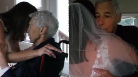 Vuole ballare con il suo papà malato di cancro: una scena piena di amore