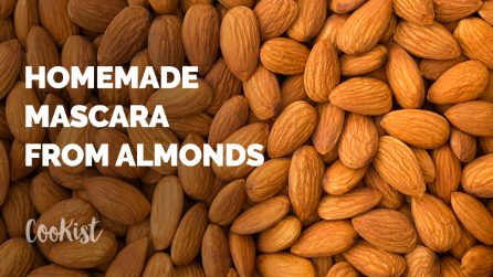 How to make natural mascara from almonds at home!