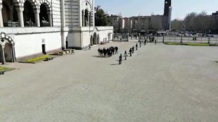 Milano, l'estrema destra al cimitero monumentale per il Centenario del fascismo