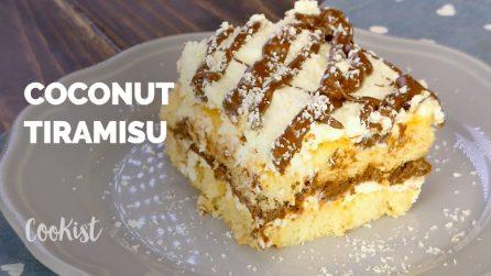 Creamy coconut tiramisu: eggless and super easy!