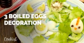3 hard boiled Easter egg decorations to prepare for your guests!