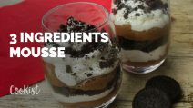 Super easy 3 ingredients chocolate mousse!