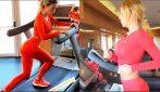 L'allenamento speciale di Diletta Leotta sul tapis roulant