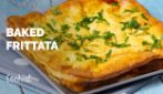 Baked frittata: delicious hot or cold!