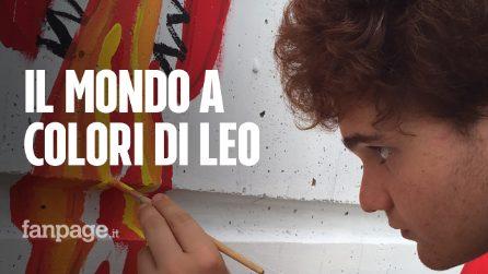 """Leo Ottoni, il pittore autistico che comunica con l'arte, la madre: """"Così ci porta nel suo mondo"""""""