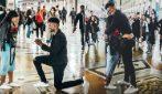Milano, cestista porta la sua compagna in Galleria e le fa una bellissima sorpresa