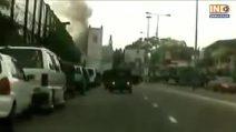 Sri Lanka, il momento dell'esplosione in una chiesa