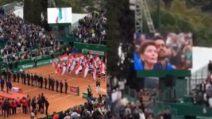 Fabio Fognini vince a Montecarlo: il momento della premiazione