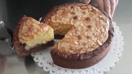 Crostata al cacao con crema frangipane: una vera delizia