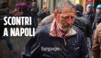 Nicola Zingaretti, scontri all'esterno del teatro tra disoccupati e polizia: manifestante ferito