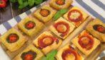Pizzette di pasta sfoglia quadrate: come farle in 20 minuti!