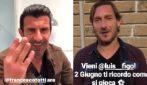 """Figo sfida Totti: """"Te ne faccio 4 e vai a casa"""", il Pupone: """"Vieni che se divertimo"""""""