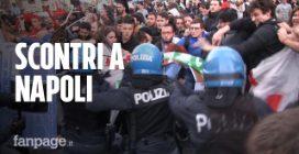 Salvini a Napoli, la polizia carica i manifestanti in piazza Plebiscito