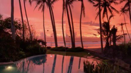 Il cielo si tinge di rosso, riprende il tramonto: le immagini spettacolari
