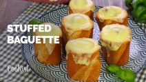 Meat stuffed french baguette: super tasty and ready in minutes!