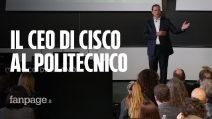 """Il CEO di Cisco Chuck Robbins al Politecnico di Milano: """"Per voi opportunità illimitate"""""""