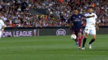 Europa League, Valencia-Arsenal: il gol di Aubameyang