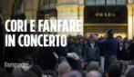 Alpini, il suggestivo concerto di cori e fanfare nelle location simbolo di Milano