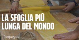 """Sfoglia da record: 120 metri tirati col mattarello dalle """"cesarine"""" di tutta Italia"""