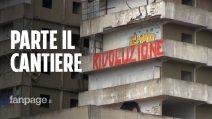 """Via al cantiere per l'abbattimento della Vela, De Magistris: """"L'Italia esulta"""""""